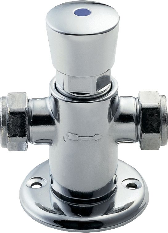deva nct002 chrome self closing preset automatic shut off exposed shower valve