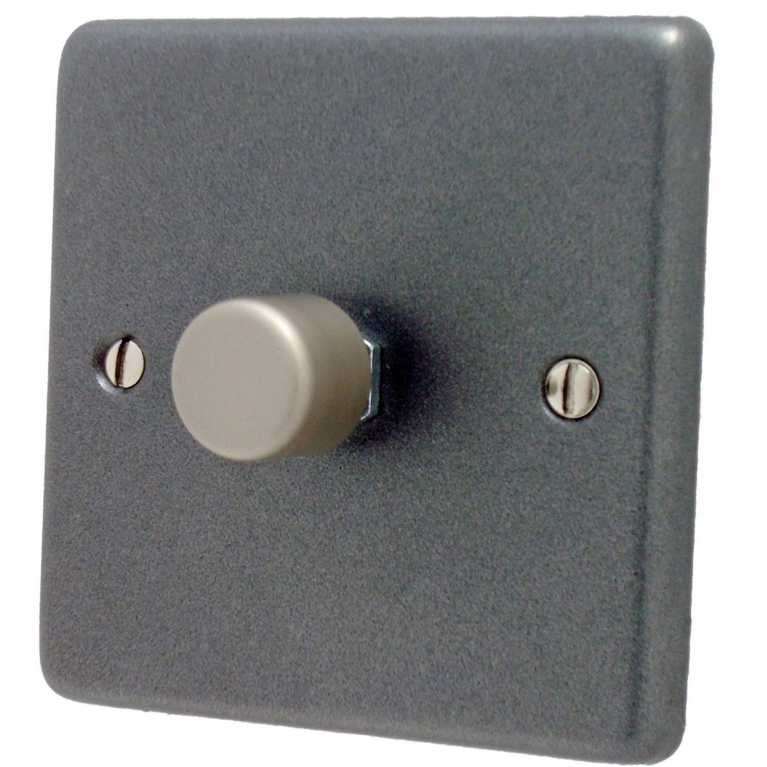 Gh Cp11 Standard Plate Pewter 1 Gang Or 2 Way 40 400w Dimmer Switch Phono Box