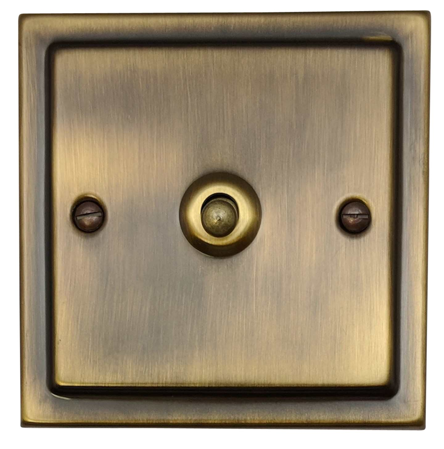 G H Tab281 Trimline Plate Antique Bronze 1 Gang 1 Or 2 Way Toggle Light Switch