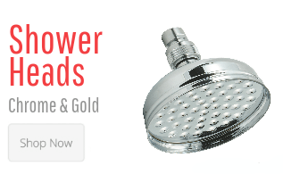 Shower Heads Chrome & Gold