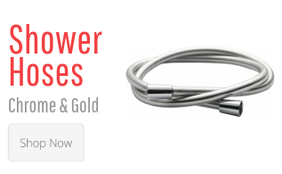 Shower Hoses Chrome & Gold