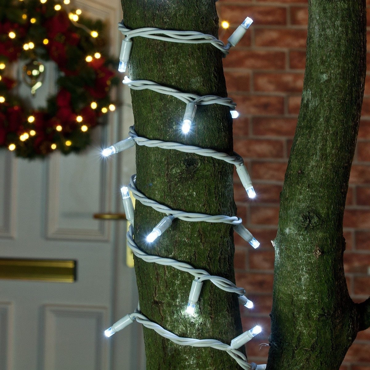 ConnectPro MV032 5m White Outdoor LED String Lights, Connectable, White Rubber Cable