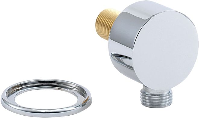 Deva Spe01 Chrome Round Shower Valve Hose Connector Wall