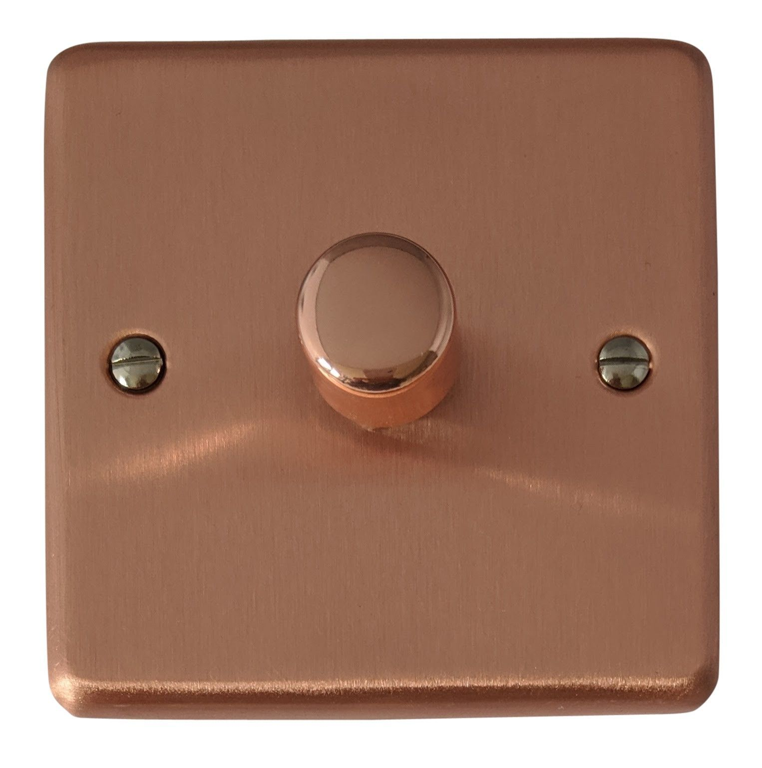 Gh Crg11 Standard Plate Rose Gold 1 Gang Or 2 Way 40 400w Dimmer Switch With
