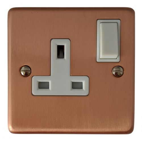G/&H CRG10W Standard Plate Rose Gold 2 Gang Double 13A Switched Plug Socket