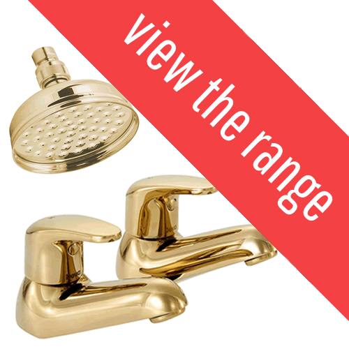 Gold Bathroom Taps & Showers