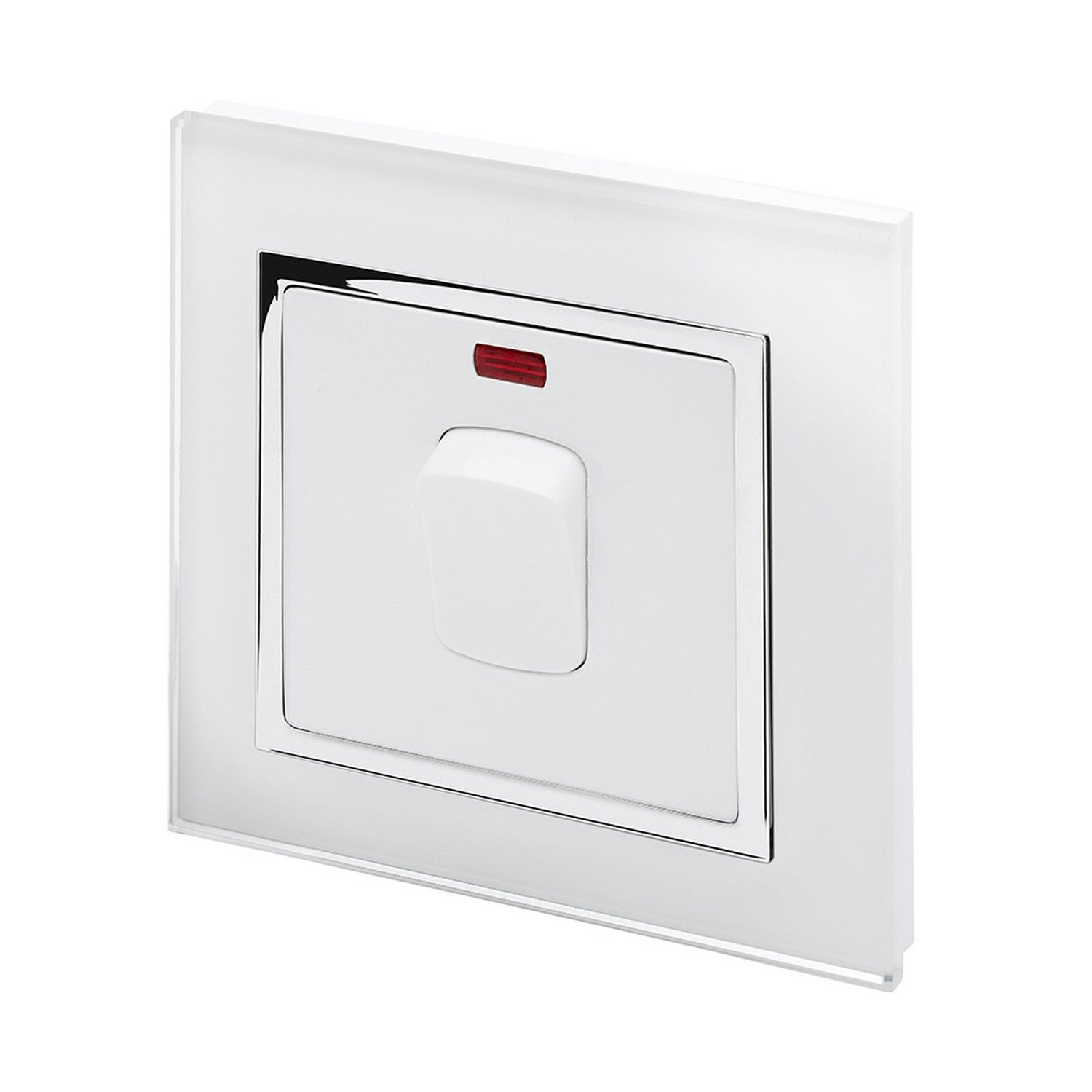 Retrotouch 20 Amp Double Pole Heater Switch White Glass Ct