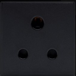 RT 15A Round Pin Socket (50mmX50mm) Black 09051