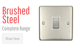Brushed Steel Switches & Sockets
