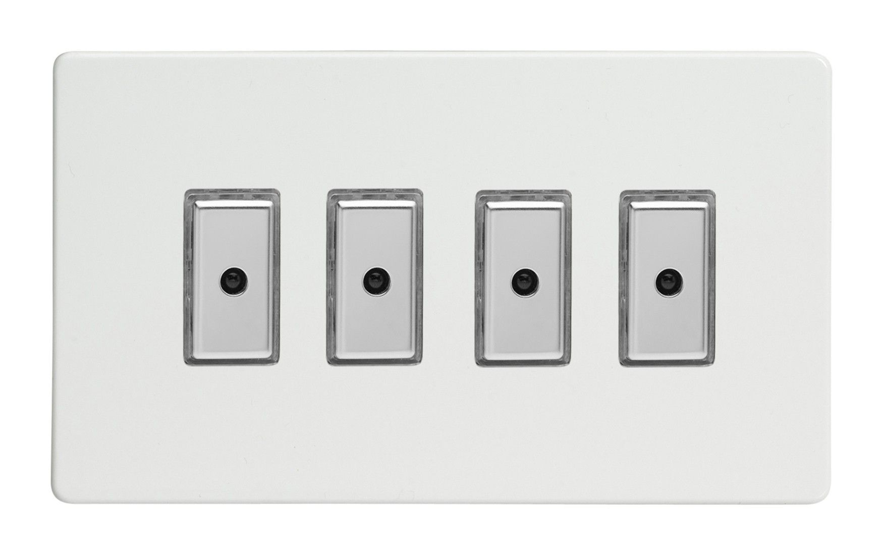 Varilight IDQS004S IR 4-Gang Touch Dimmer Slave White FOR USE WITH MASTER