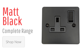 Matt Black Light Switches & Plug Sockets
