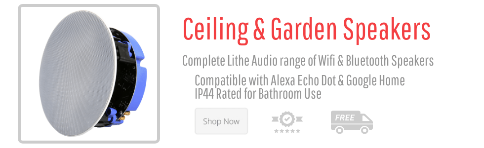 Lithe Audio Bluetooth Wifi Ceiling Speakers