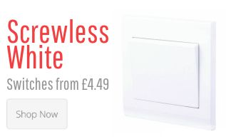 Screwless White Switches & Sockets